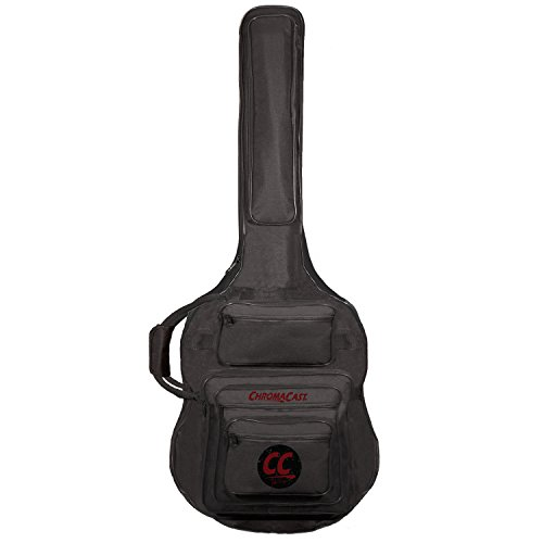 41VYCx0gecL - ChromaCast Pro Series Rudy Sarzo Signature Acoustic Bass Guitar Padded Gig Bag