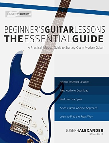 51xEKCZNPFL - Beginner's Guitar Lessons: The Essential Guide (With Audio)