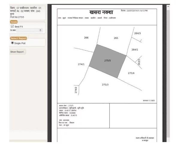 chattisgarh bhu naksha
