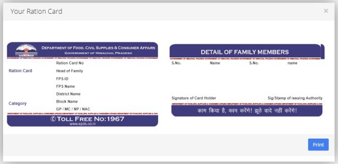 himachal pradesh ration Card