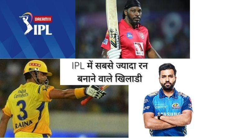 IPL Me Sabse Jyada Run Banane Wale Khiladi