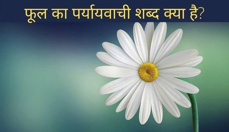 फूल का पर्यायवाची शब्द? | Phool Ka Paryayvachi Shabd in Hindi?