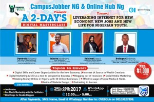 Read more about the article On-Demand: Intensive 2-Days Digital Masterclass – Leveraging Internet for New Jobs & Everything You Need To Know!