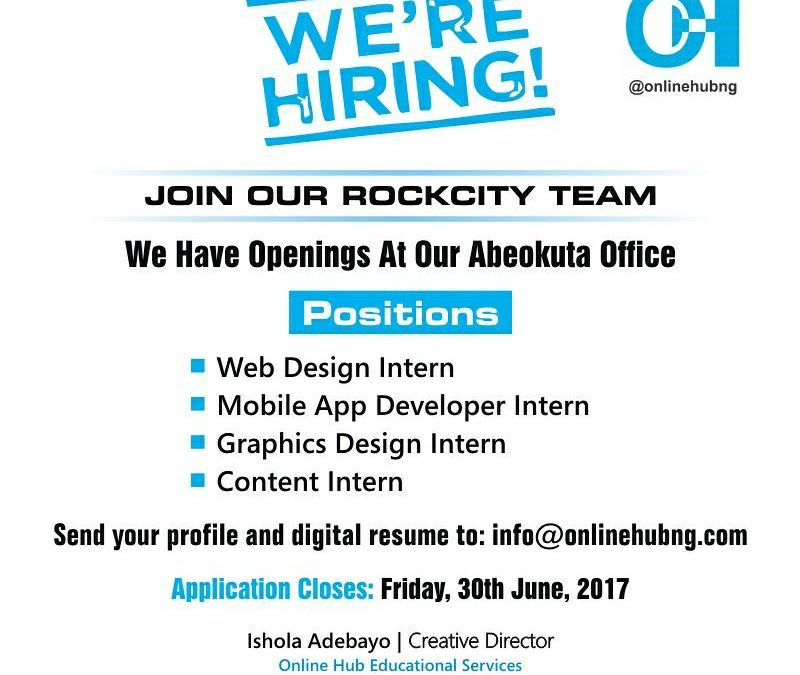 Internship Opportunity: Join the OnlineHubNG Gang