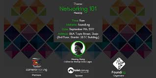 Plan to attend Networking 101 Workshop for Founders in Lagos on September 9th