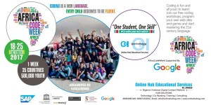 Read more about the article Online Hub Educational Services in conjunction with Cape Town Science Centre supported by Google to run hands-on coding workshops for Teenagers during Africa Code Week 2017 in Abeokuta, Ogun State, Nigeria