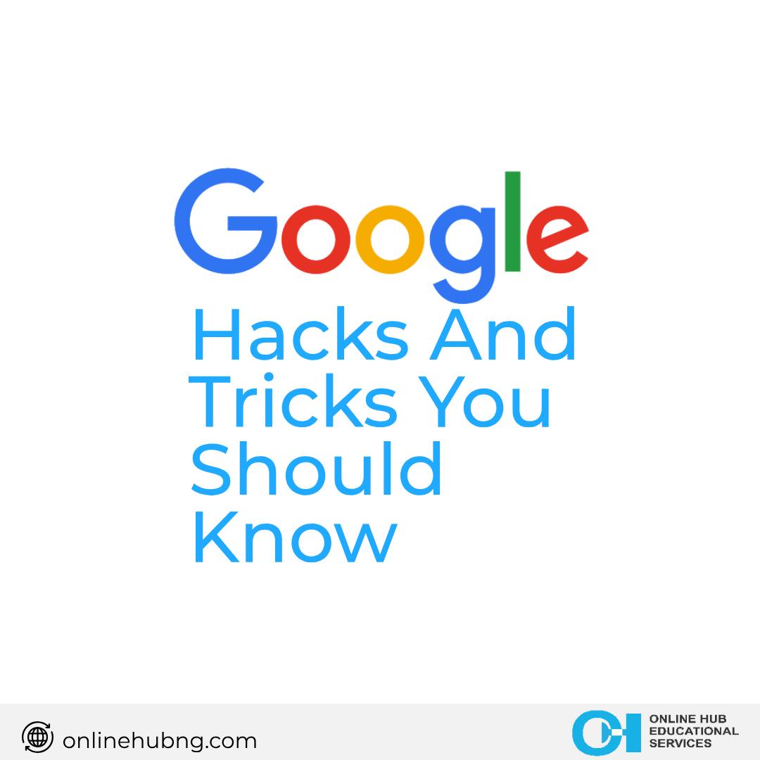 Google Hacks and Tricks