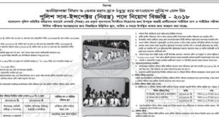 BD Police job circular bangladesh police sub inspector job circular 2018