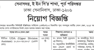 Dhaka military quarters Job Circular 2018