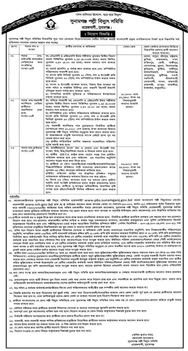 Rural Electrification Board BREB Job Circular 2019