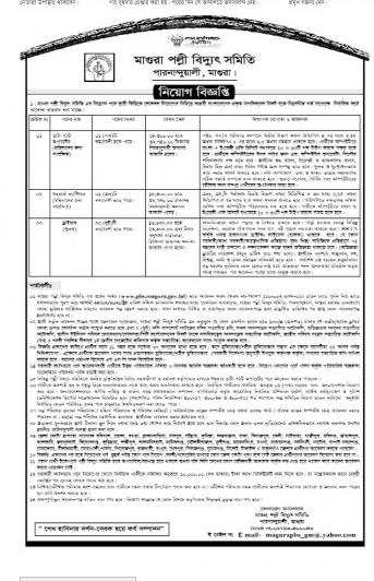 Magura Palli bidyut samity Job Circular 2020