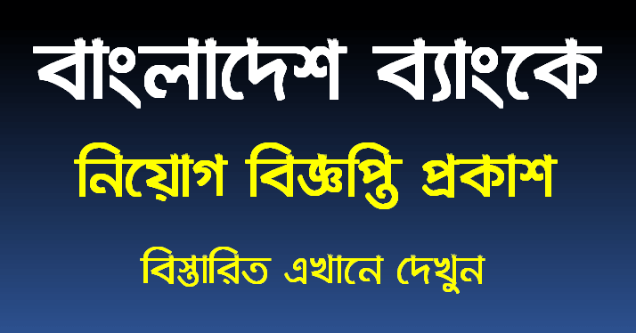 Bangladesh Bank Job Circular 2021