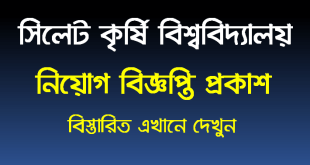 Sylhet Agricultural University Job Circular 2020