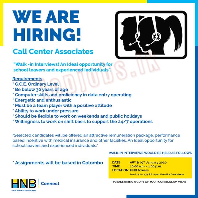 HNB Bank Job Vacancies