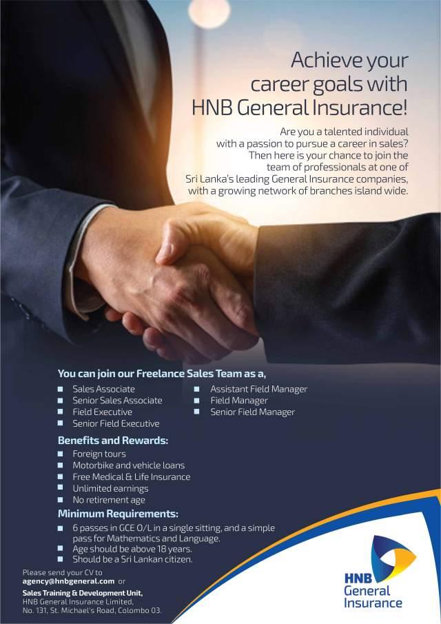 Freelance Sales Team Vacancies - HNB Bank