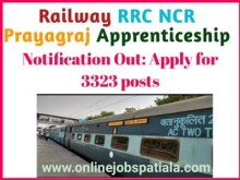 Railway RRC NCR Apprentice 2021 Notification
