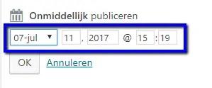 stap 2 -wordpress - datum aanpassen