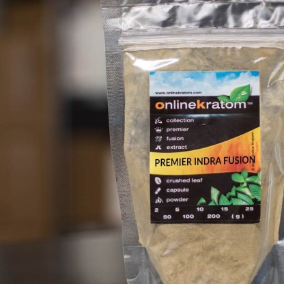 Zip Pouch of the Indra Kratom Fusion Powder