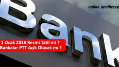 Photo of 1 Ocak 2020 Resmi Tatil mi ? Bankalar PTT Açık Olacak mı ?