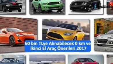Photo of 60 bin TL 'ye Alınabilecek 0 km ve ikinci El Araç Öneriler