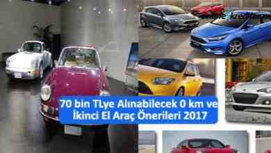 Photo of 70 bin TL 'ye Alınabilecek 0 km ve ikinci El Araç Önerileri