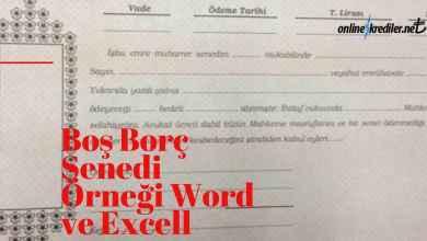Photo of Boş Borç Senedi Örneği Word Ve Excell