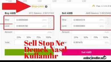 Photo of Sell Stop Ne Demek Nasıl Kullanılır