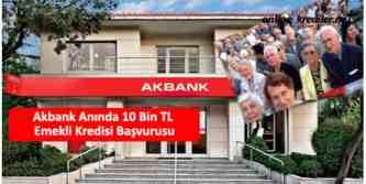 emekli kredi başvurusu akbank