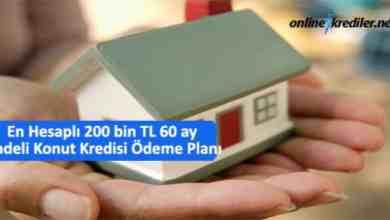 Photo of En Hesaplı 200 bin TL 60 ay Vadeli Konut Kredisi Ödeme Planı
