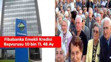Photo of Fibabanka Emekli Kredisi Başvurusu 10 bin TL 60 Ay