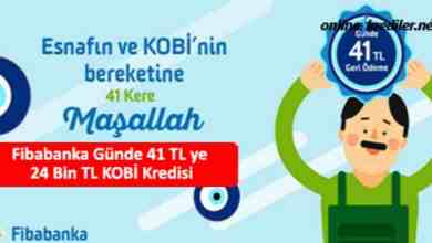 Photo of Fibabanka Günde 41 TL ye 24 Bin TL KOBİ Kredisi