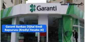 garanti bbva dijital kredi başvurusu