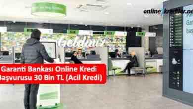 Photo of Garanti Bankası Online Kredi Başvurusu 30 Bin TL (Acil Kredi)