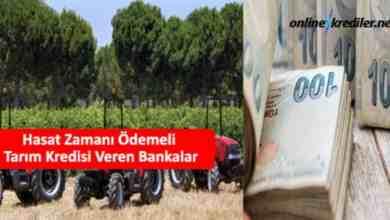 Photo of Hasat Zamanı Ödemeli Tarım Kredisi Veren Bankalar