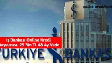 Photo of İş Bankası Online Kredi Başvurusu 25 Bin TL 36 Ay Vade