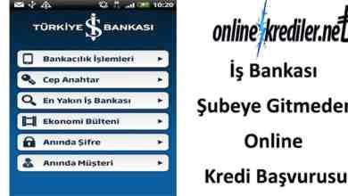 Photo of İş Bankası Şubeye Gitmeden Online Kredi Başvurusu