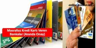 masrafsız aidatsız kredi kartları