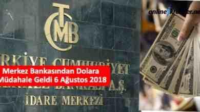 Photo of Merkez Bankasından Dolara Müdahale Geldi 6 Ağustos 2018