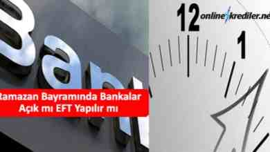 Photo of Ramazan Bayramında Bankalar Açık mı EFT Yapılır mı (25-26 Mayıs)