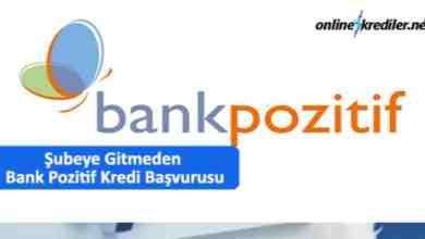 Photo of Şubeye Gitmeden Anında Bank Pozitif Kredi Başvurusu