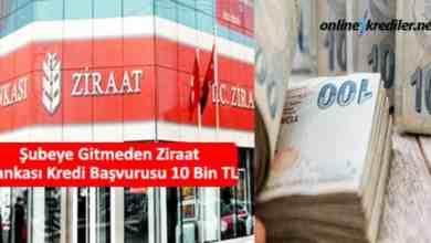 Photo of Şubeye Gitmeden Ziraat Bankası Kredi Başvurusu 10 Bin TL