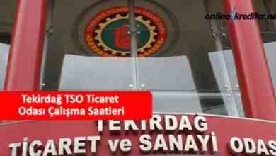 Photo of Tekirdağ TSO Ticaret Odası Çalışma Saatleri Kaça Kadar