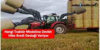 traktör hibe kredi