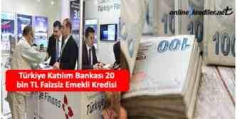 turkiye katilim bankasindan emeklilere kredi