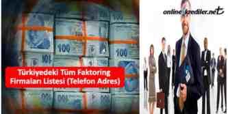 turkiyedeki tum faktoring firmalari listesi