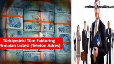 Photo of Türkiyedeki Tüm Faktoring Firmaları Listesi (Telefon Adres)