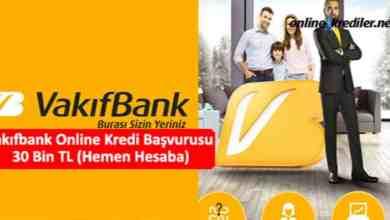 Photo of Vakıfbank Online Kredi Başvurusu 30 Bin TL (Hemen Hesaba)