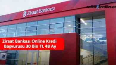Photo of Ziraat Bankası Online Kredi Başvurusu 30 Bin TL 60 Ay