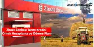 ziraat tarım kredisi hesaplama