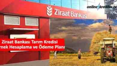 Photo of Ziraat Bankası Tarım Kredisi Örnek Hesaplama